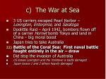 c the war at sea
