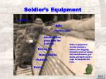 soldier s equipment