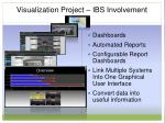 visualization project ibs involvement