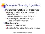 examples of learning algorithms
