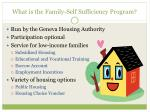 what is the family self sufficiency program