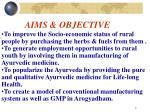 aims objective