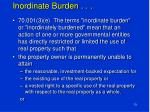 inordinate burden