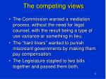 the competing views
