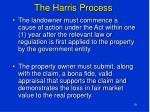 the harris process