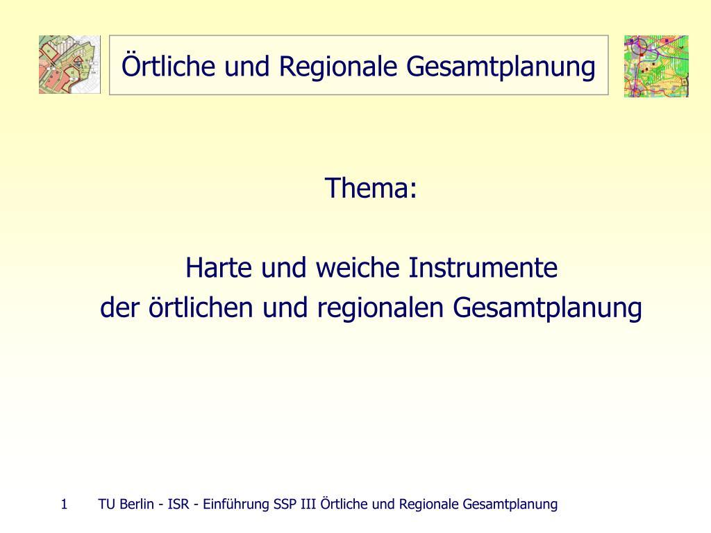 rtliche und regionale gesamtplanung l.