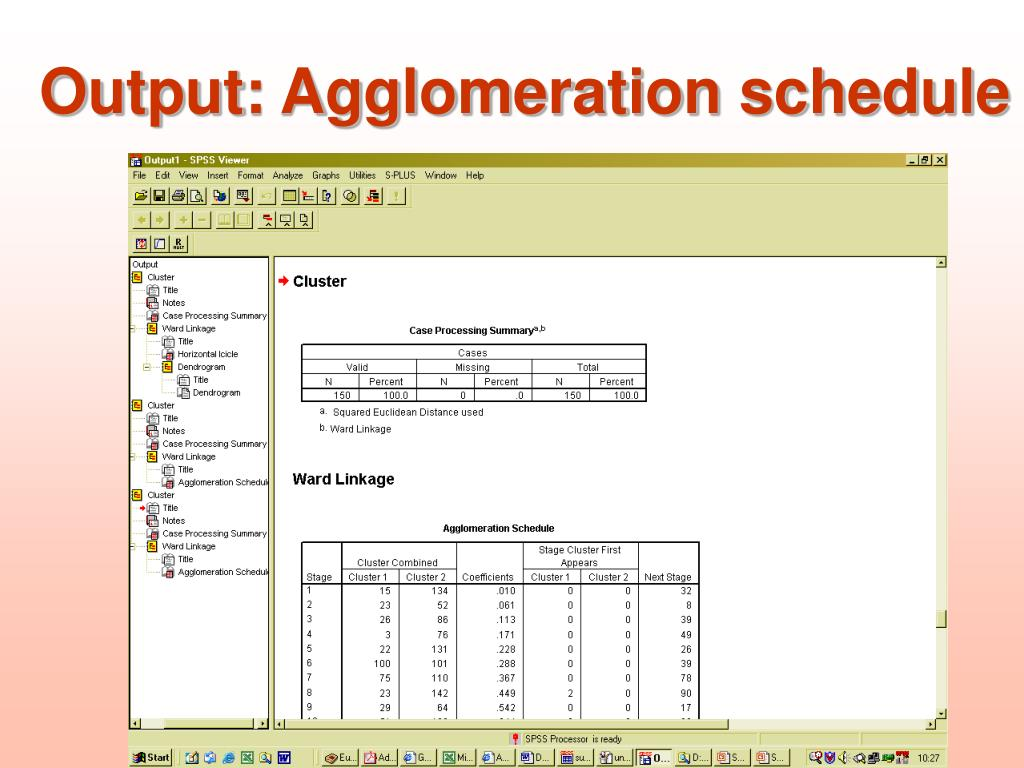 Output: Agglomeration schedule