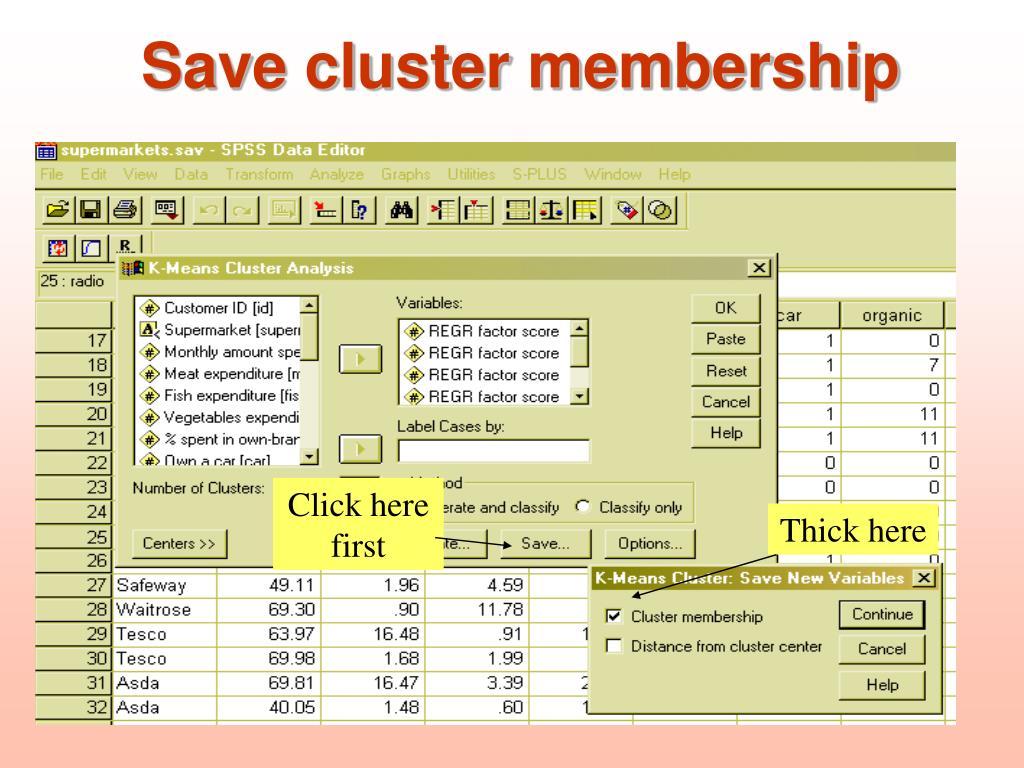 Save cluster membership