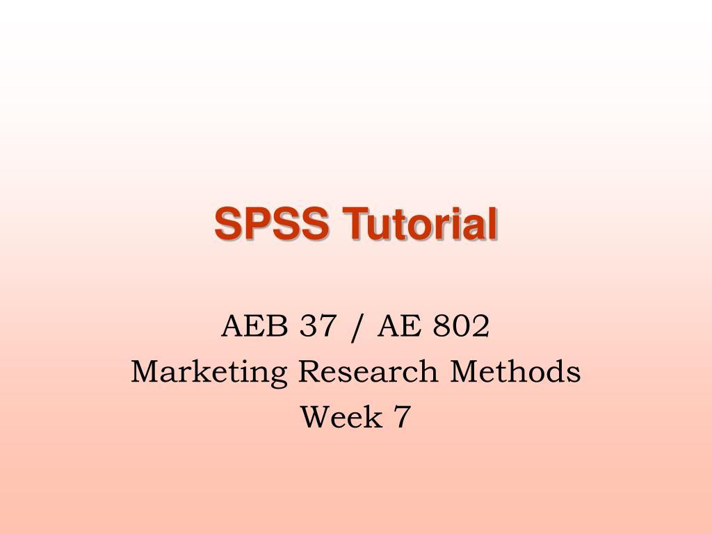 SPSS Tutorial