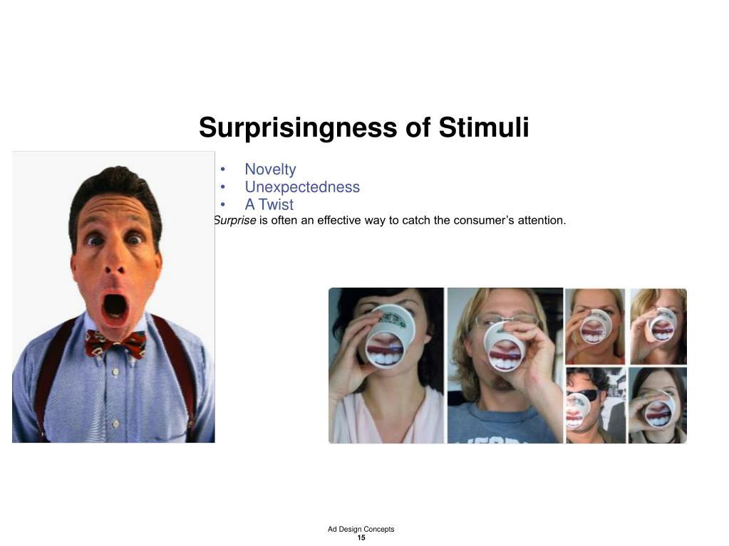 Surprisingness of Stimuli