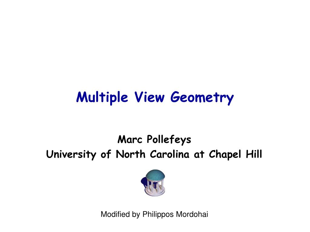 multiple view geometry l.