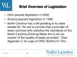 brief overview of legislation