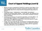 court of appeal holdings cont d