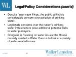 legal policy considerations cont d