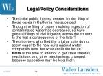 legal policy considerations