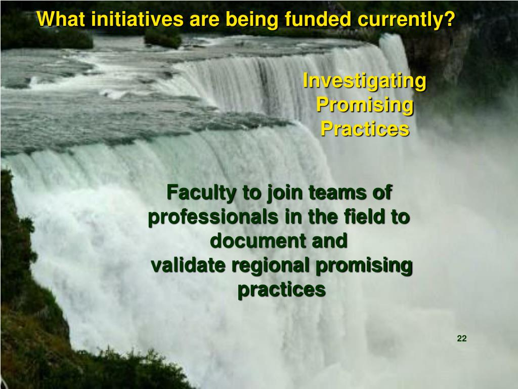 What initiatives are being funded currently?
