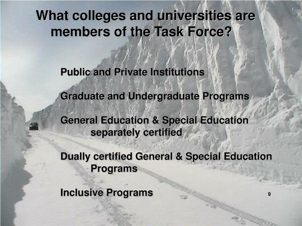 What colleges and universities are