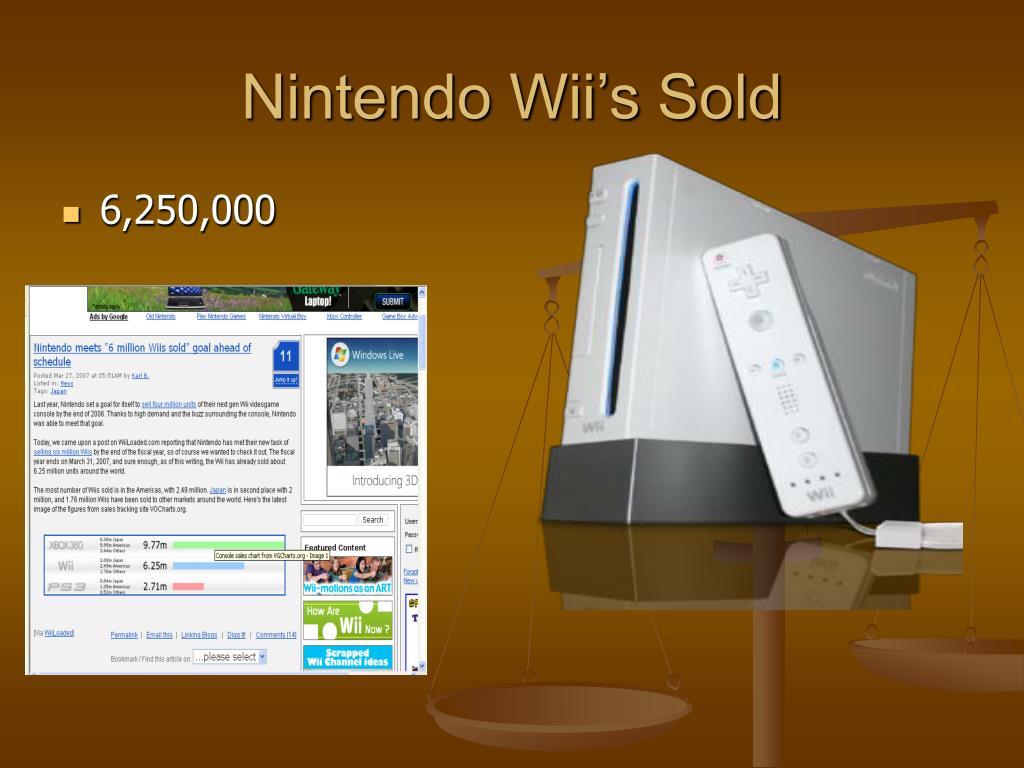 Nintendo Wii's Sold