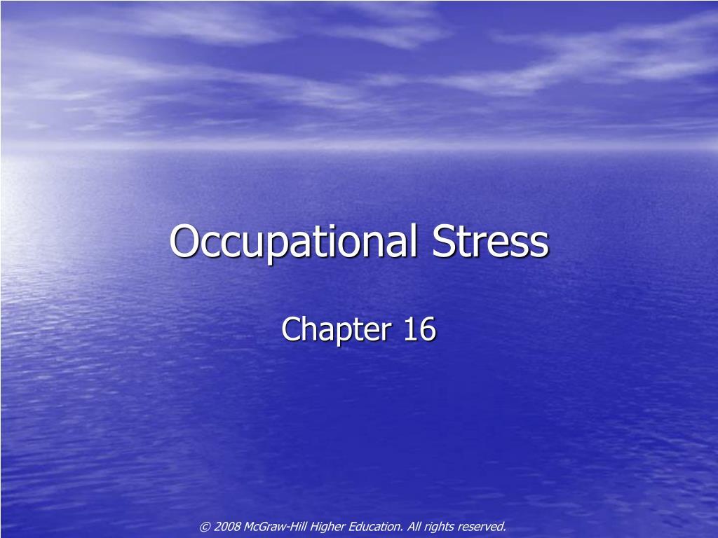 occupational stress l.