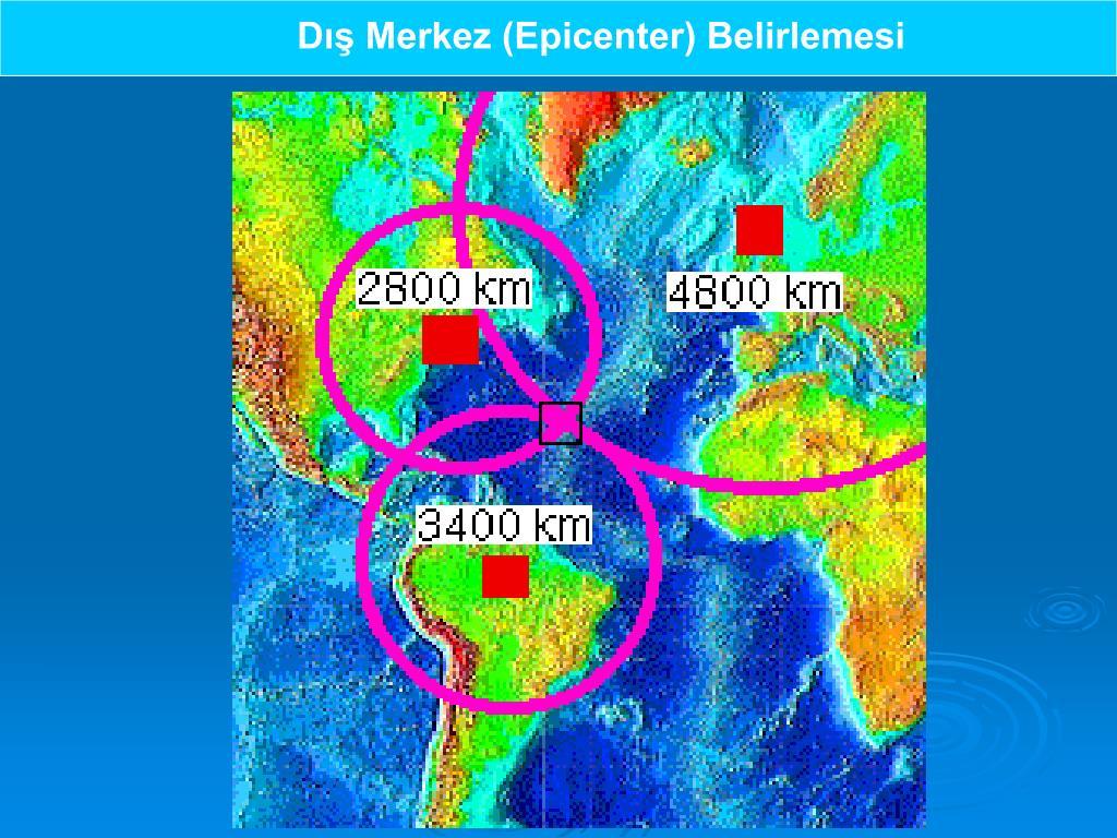 Dış Merkez (Epicenter) Belirlemesi