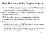 major histocompatibility complex antigens
