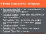6 point framework mitigants