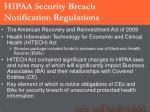 hipaa security breach notification regulations