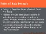 point of sale process