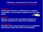 challenges and problems for grenoble to stay competitive and to attract multinationals