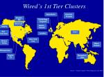 wired s 1st tier clusters