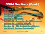 osha sections cont
