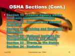 osha sections cont18