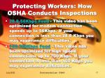 protecting workers how osha conducts inspections