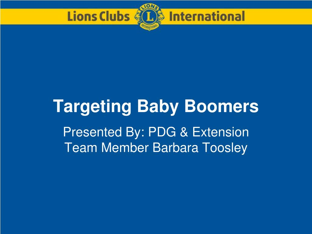 targeting baby boomers l.