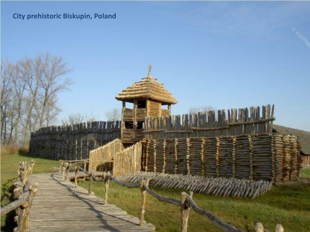 City prehistoric Biskupin, Poland