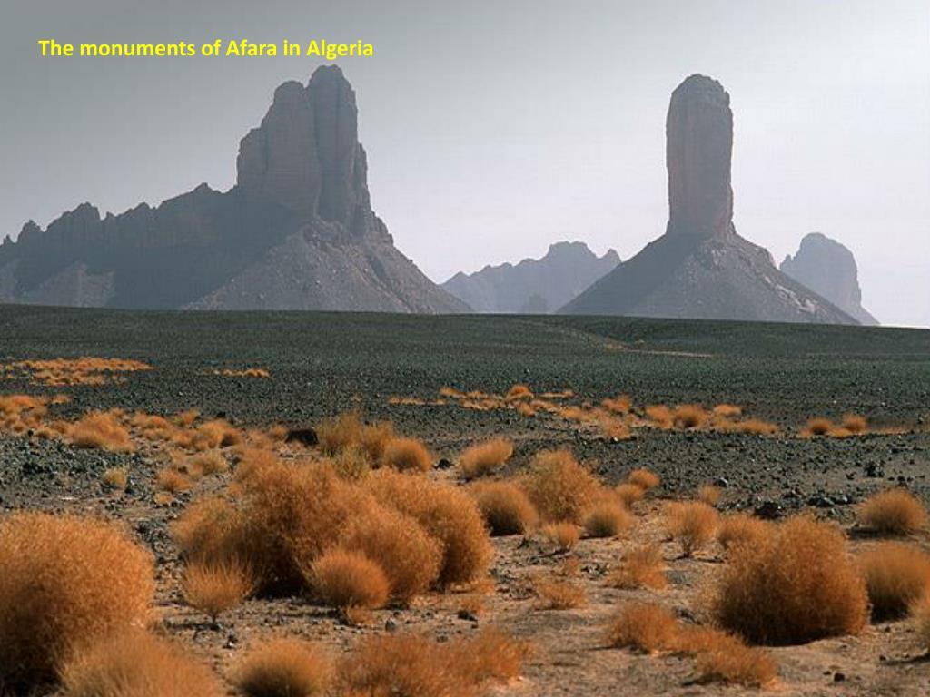 The monuments of Afara in Algeria