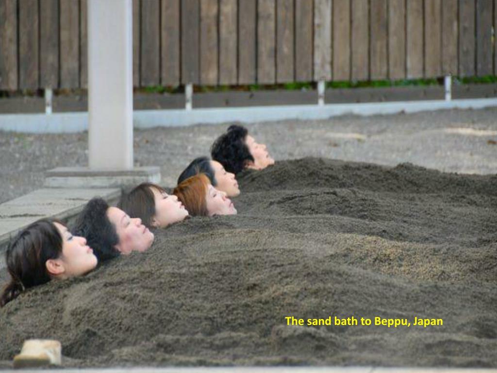 The sand bath to Beppu, Japan