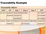 traceability example10