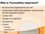 why is traceability important