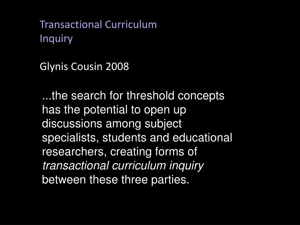 Transactional Curriculum Inquiry