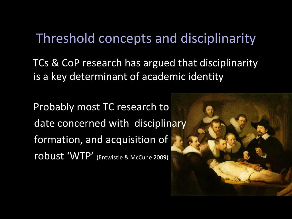 Threshold concepts and