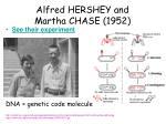 alfred hershey and martha chase 1952