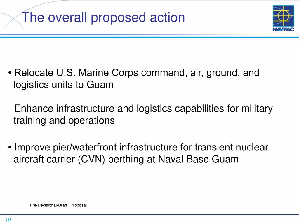 The overall proposed action