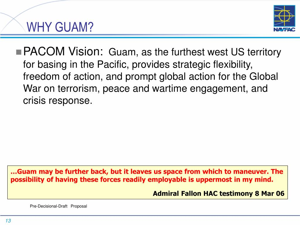 WHY GUAM?