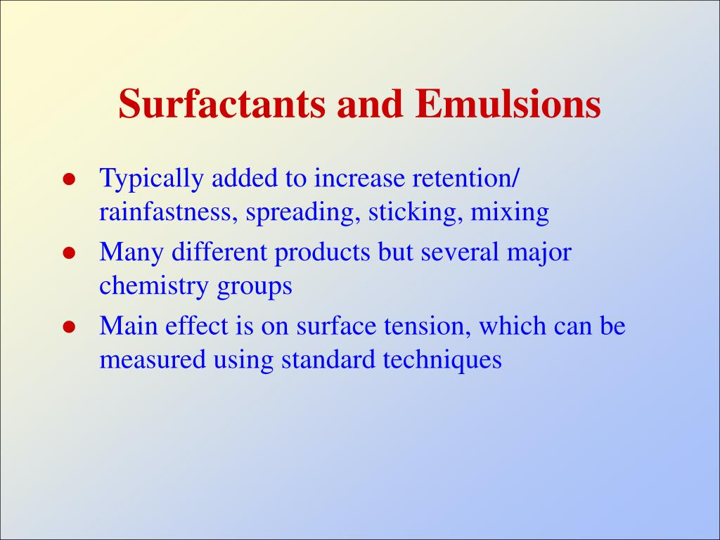 Surfactants and Emulsions