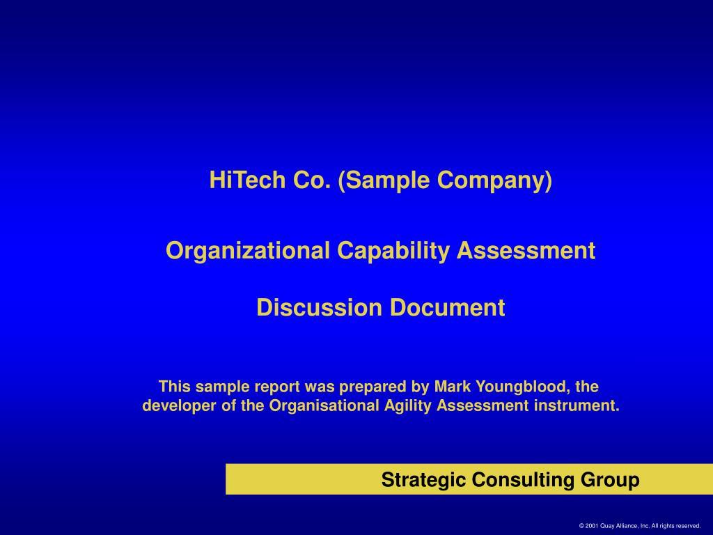 HiTech Co. (Sample Company)