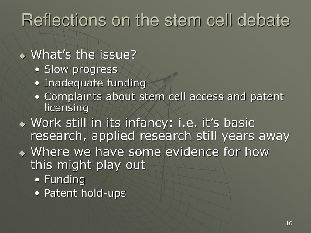 stem cell debate