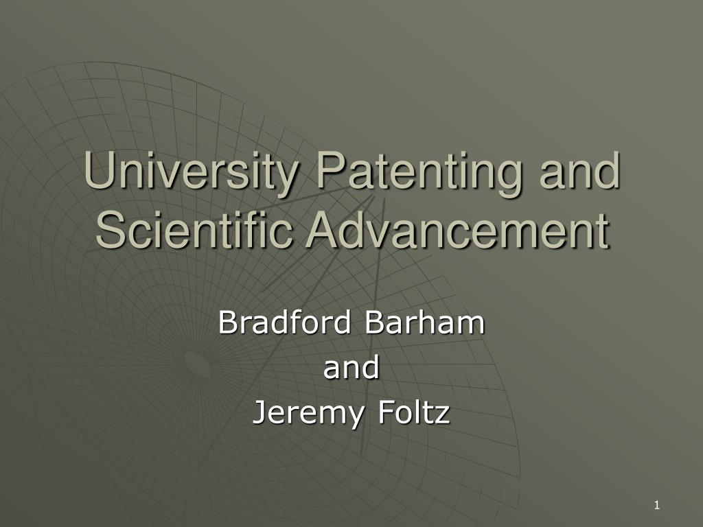 university patenting and scientific advancement