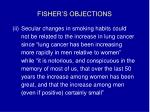 fisher s objections16