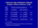 tobacco and coronary disease english willius berkson 19409